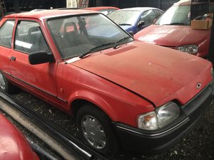 1986 Ford Escort Part of disbanded collection.