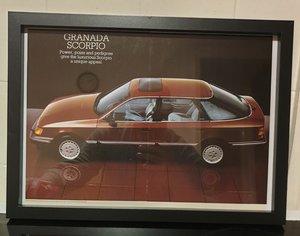 1985 Ford Granada Scorpio Advert Original