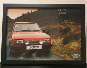 Original Ford Fiesta XR2 Framed Advert