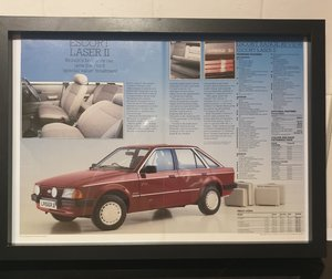 Original Ford Escort Framed Advert