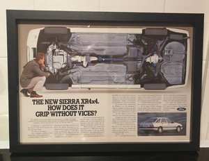 Original Sierra XR4x4 Framed Advert