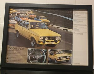 Escort MK2 Framed Advert Original