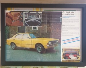 Ford Cortina Framed Advert Original