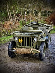 Willys Jeep GPW scripted-matching numbers-restored