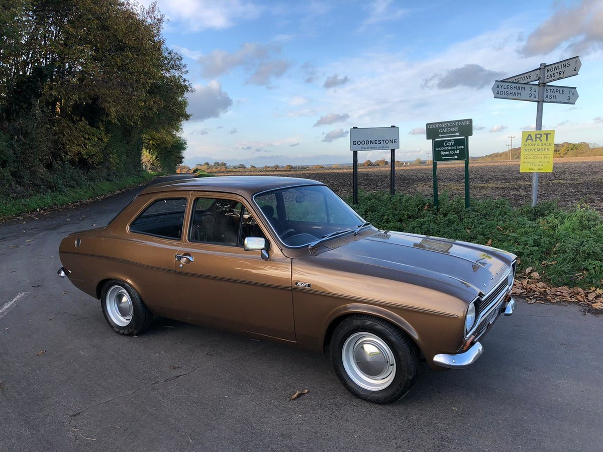 Ford Escort Mk1 1600 Mexico, 1972.   Rare in Tawny Brown. For Sale (picture 1 of 6)