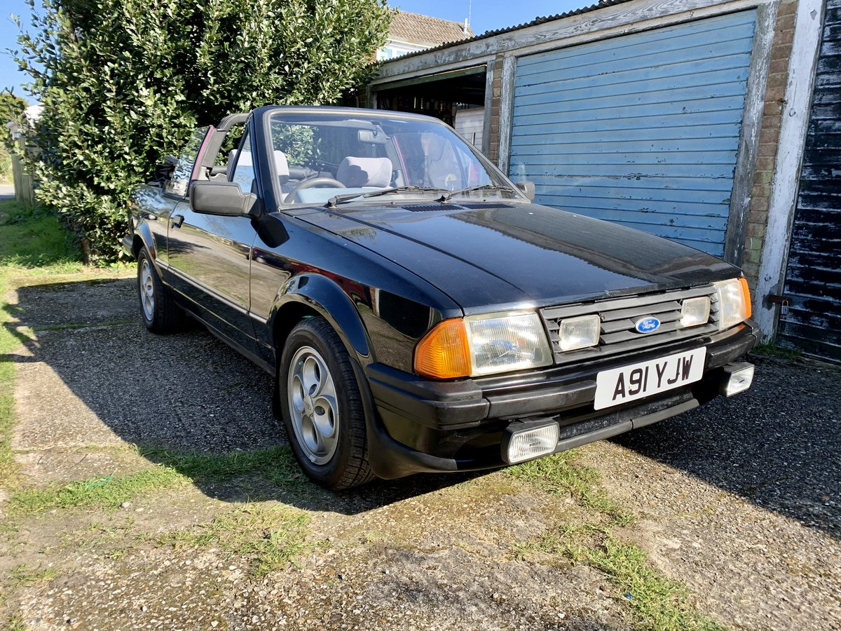 1984 Ford Escort Mk3 1.6 Cabriolet For Sale (picture 1 of 6)