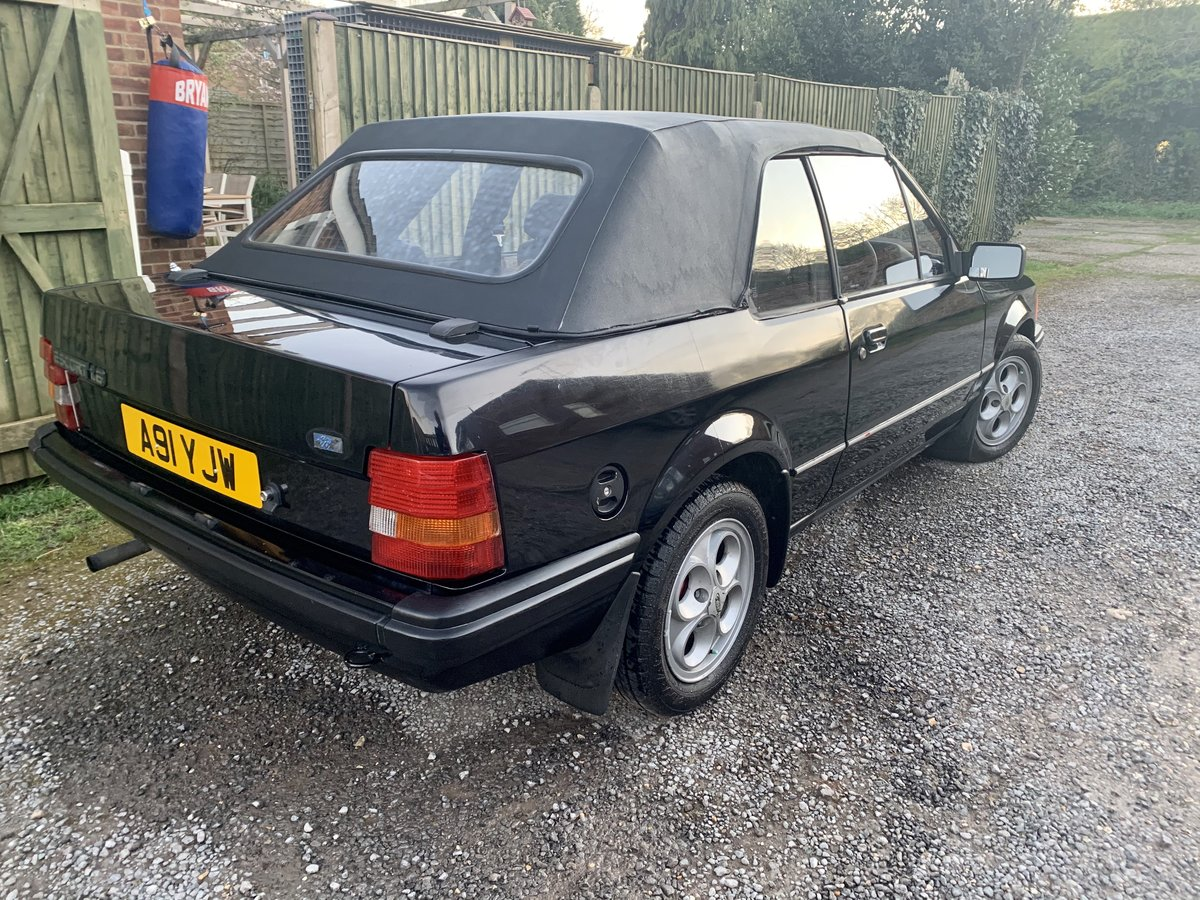 1984 Ford Escort Mk3 1.6 Cabriolet For Sale (picture 4 of 6)