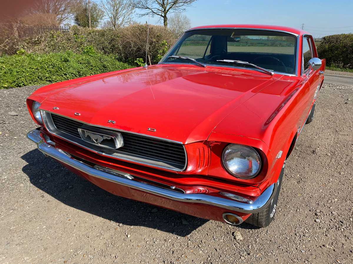 1966 Red Ford Mustang V8 Auto Coupe PROJECT For Sale | Car And Classic