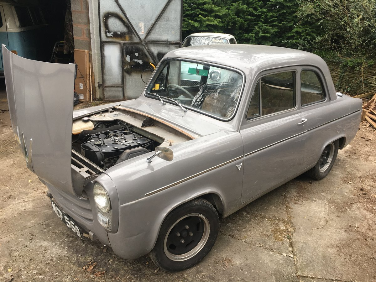 1959 Ford Anglia 100E 1.8 16V Zetec on Bike Carbs For Sale (picture 2 of 6)