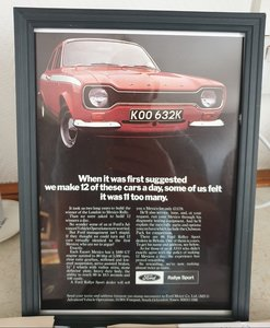 Picture of 1971 Escort Mexico Mk1 Framed Advert Original