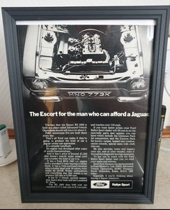 1971 Escort RS1600 Framed Advert Original