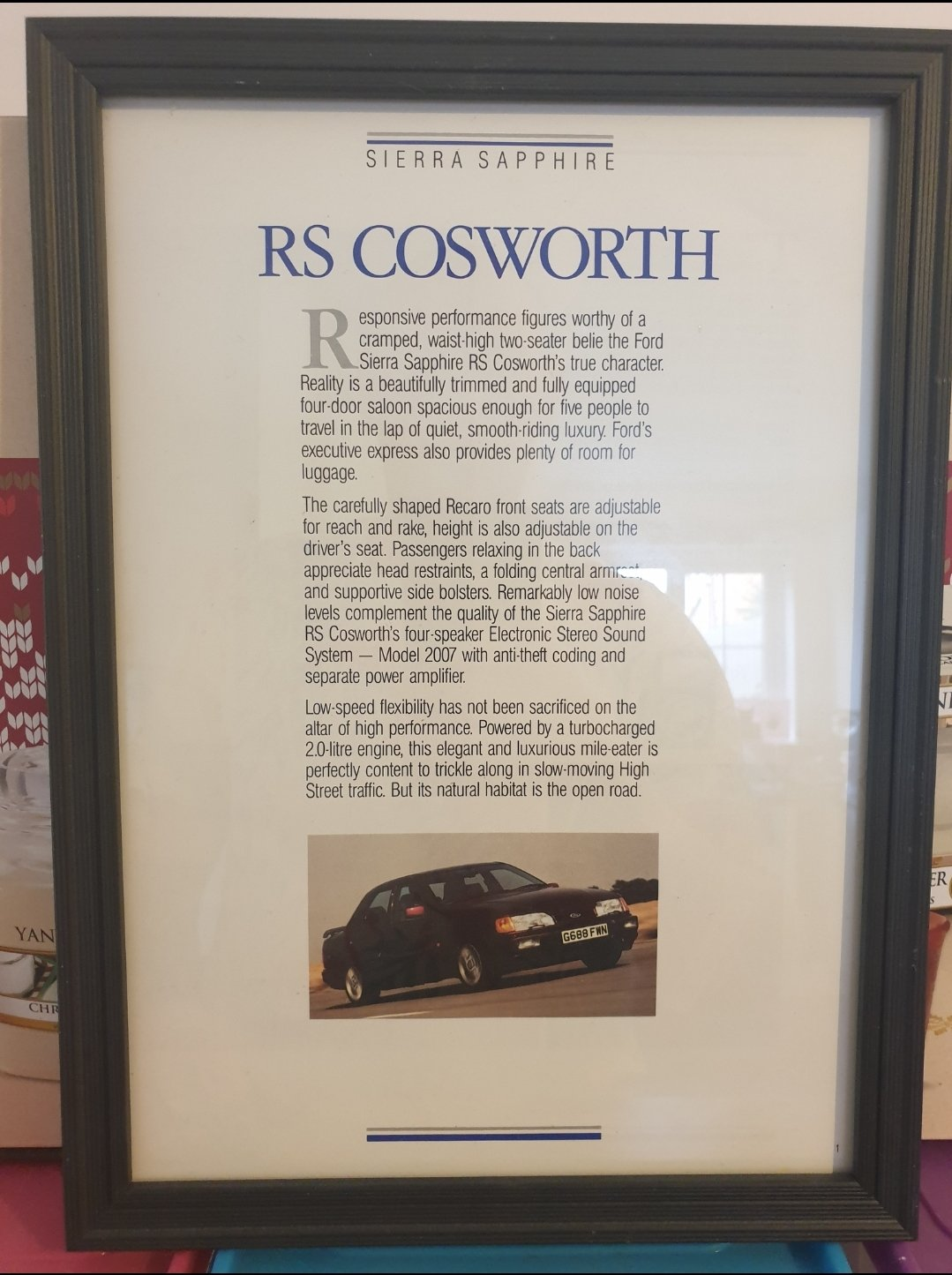 1989 Ford Sierra RS Cosworth Advert Original  For Sale (picture 1 of 2)