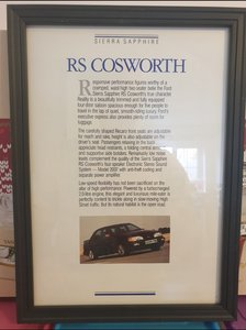 1989 Ford Sierra RS Cosworth Advert Original
