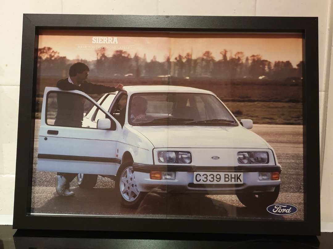 1986 Original Ford Sierra Ghia Framed Advert For Sale (picture 1 of 2)