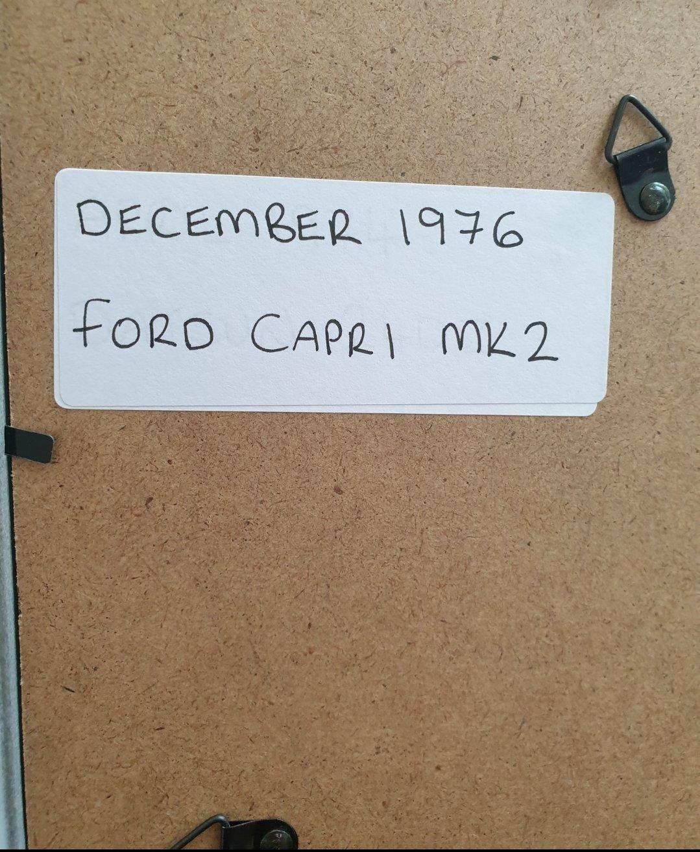 1976 Ford Capri MK2 Framed Advert Original  For Sale (picture 2 of 2)