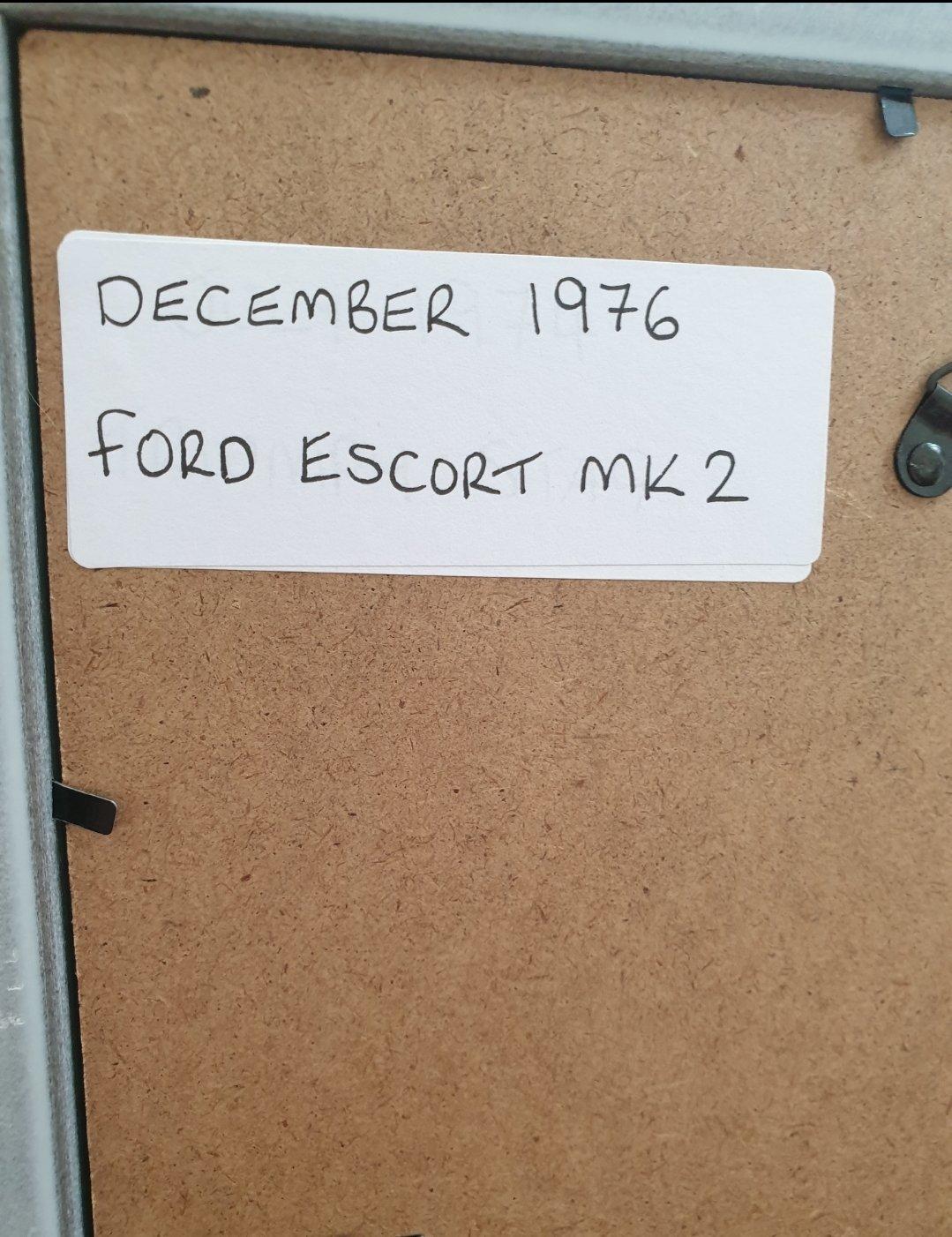 1976 Ford Escort MK2 Framed Advert Original  For Sale (picture 2 of 2)