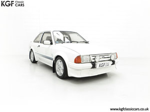 1985 An Iconic Unmolested Ford Escort Series 1 RS Turbo SOLD