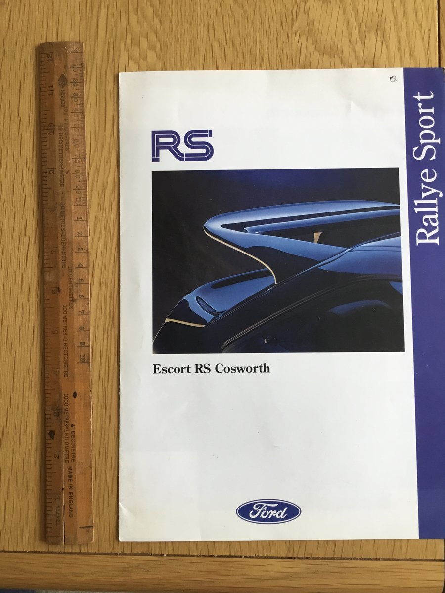 1992 Escort RS Cosworth brochure SOLD (picture 1 of 1)