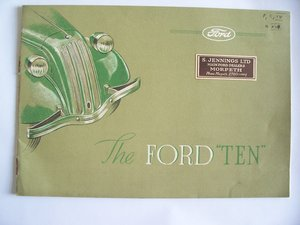 "1938 FORD ""10"" SALES BROCHURE"