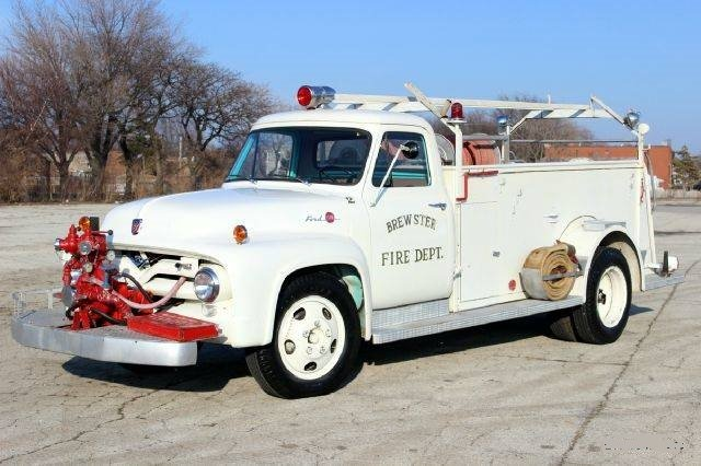 1955 Ford F350,  Fire Engine with only 1,850 miles For Sale (picture 1 of 4)