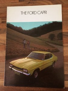 Ford Capri Mk1 sales brochure.