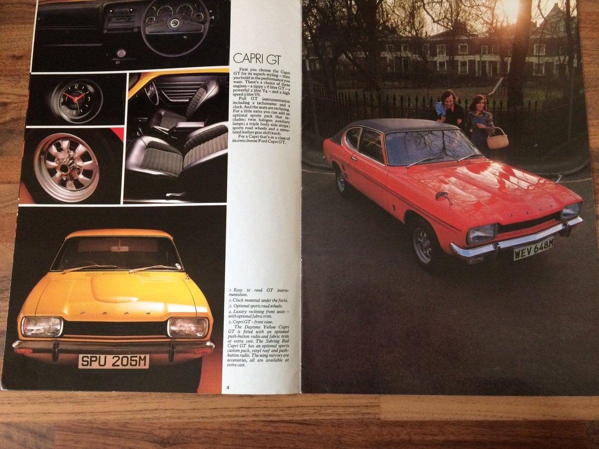 Ford Capri Mk1 sales brochure. For Sale (picture 3 of 6)