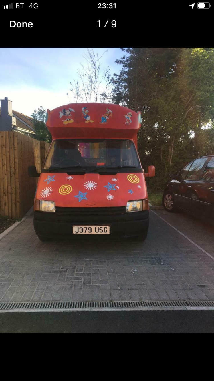 1991 Ford Transit Ice cream van For Sale (picture 1 of 6)