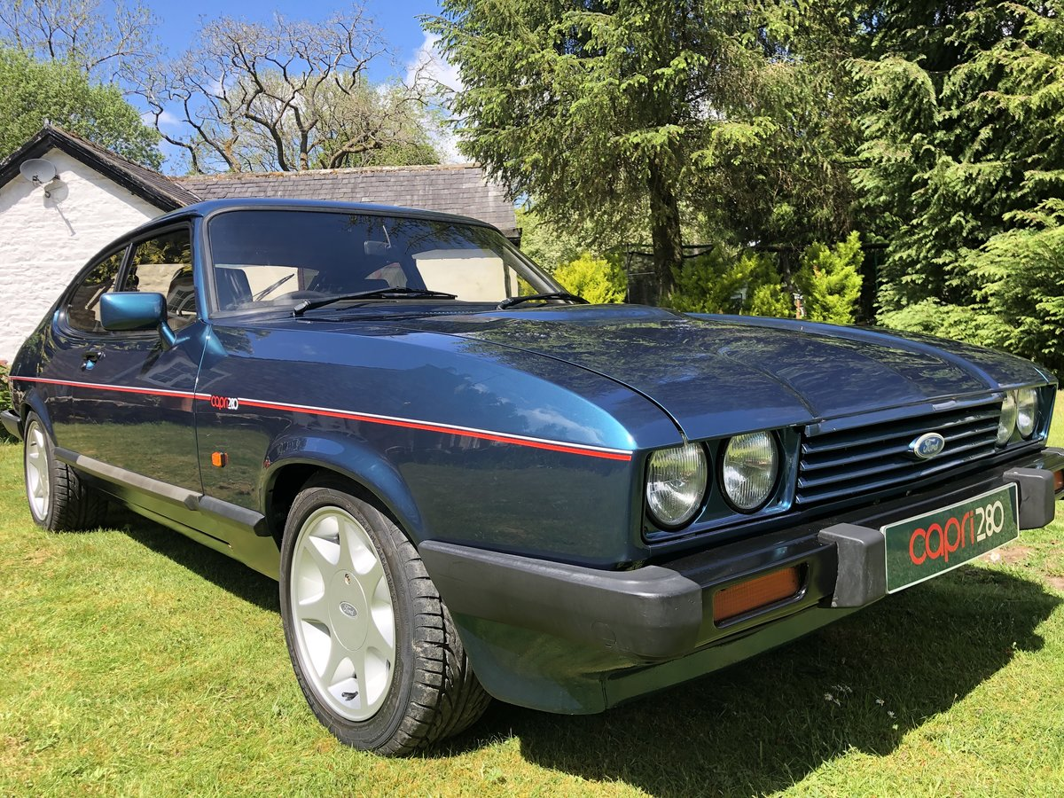 low mileage 1987 Ford Capri 2.8i 280 Brooklands  For Sale (picture 1 of 4)