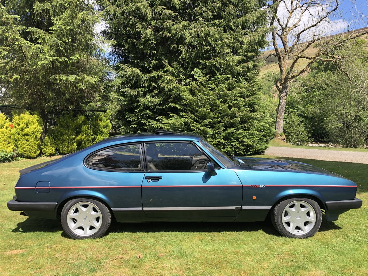 low mileage 1987 Ford Capri 2.8i 280 Brooklands  For Sale (picture 2 of 4)
