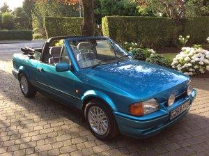 1990 Ford Escort XR3i convertible rare metallic azure For Sale