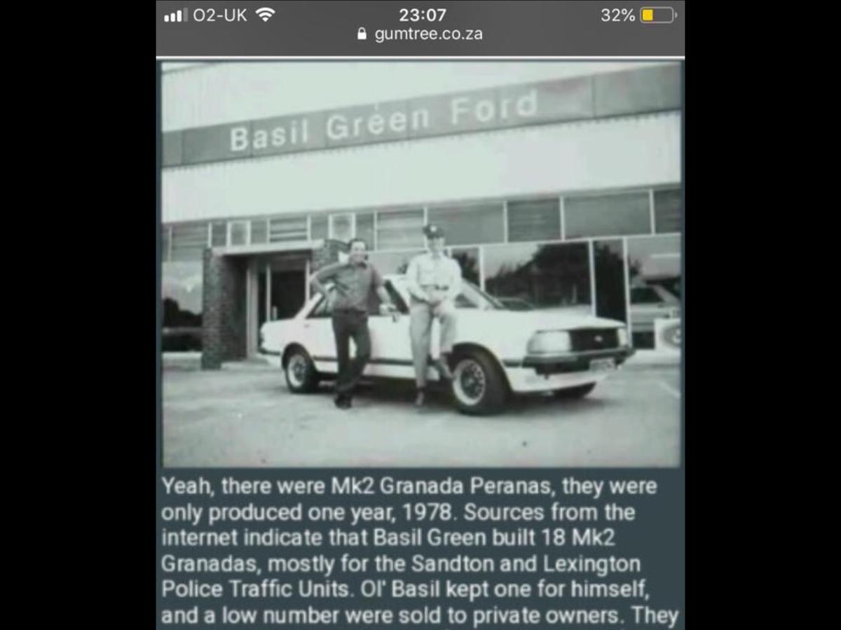 1978 FORD GRANADA PERANA MK11 5.0L GHIA V8 AUTO  For Sale (picture 4 of 6)