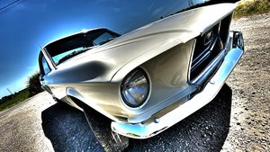 1968 V8 Ford Mustang Coupe Wimbledon White PROJECT For Sale