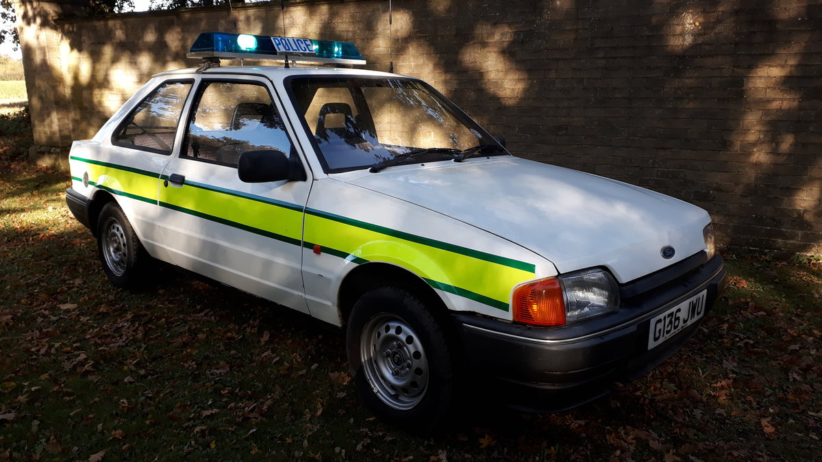 1990 Ford Escort Police Car For Sale (picture 1 of 2)
