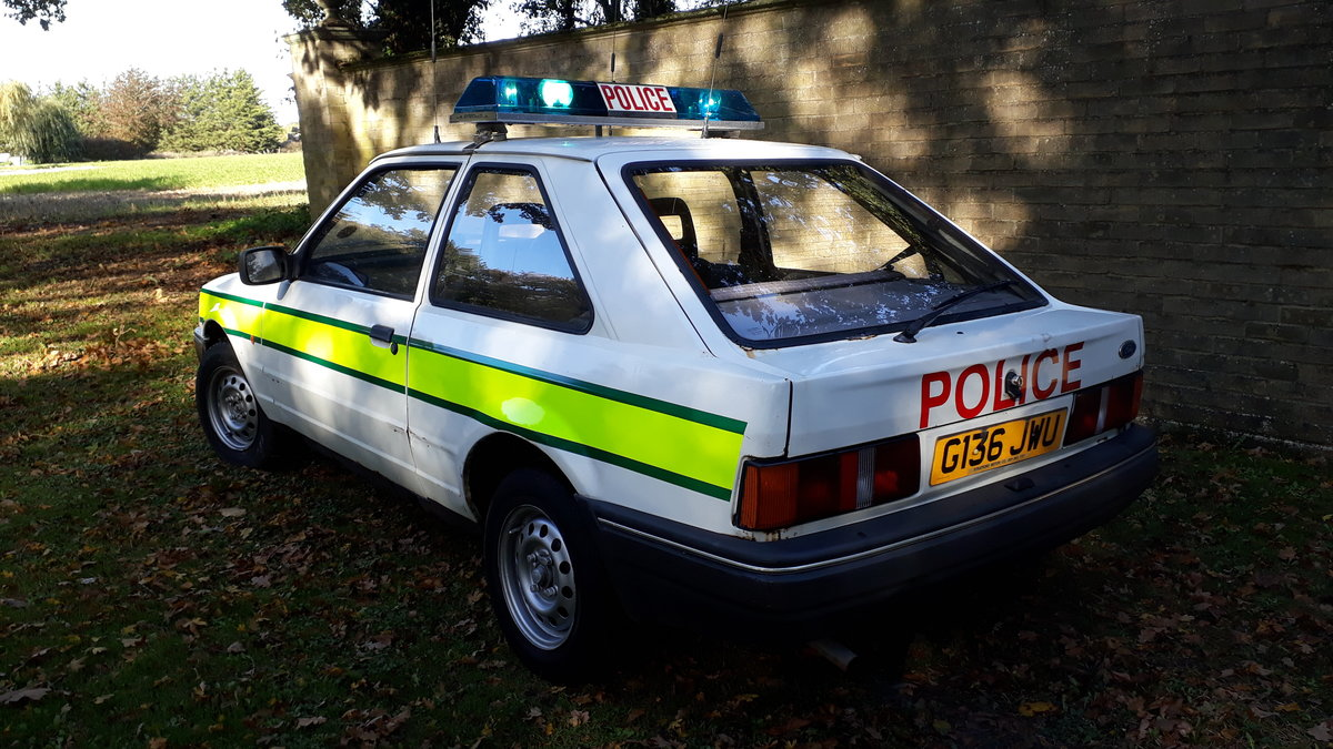 1990 Ford Escort Police Car For Sale (picture 2 of 2)