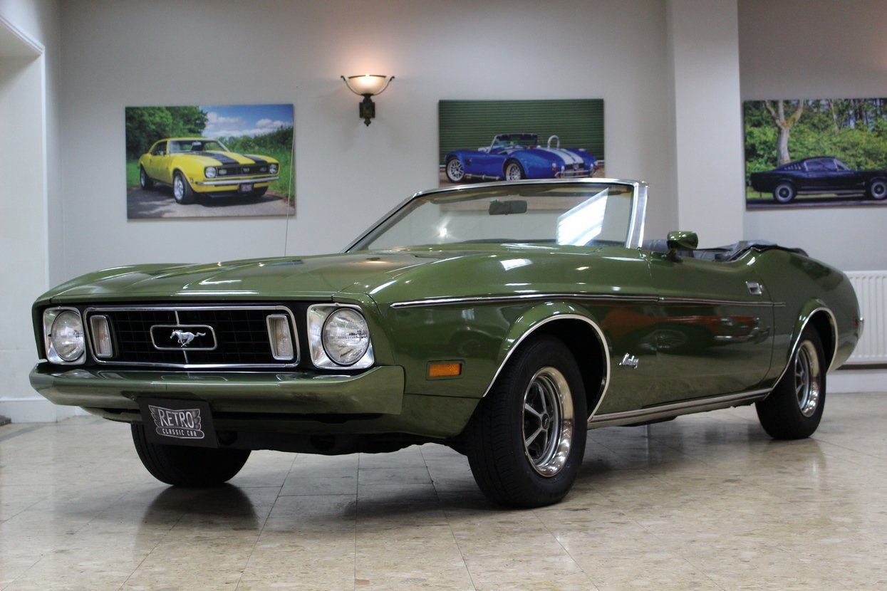 1973 Ford Mustang Convertible 351 V8 Auto   Ivy Glow  For Sale (picture 1 of 10)