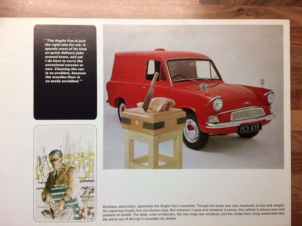 Ford Anglia Van sales brochure. For Sale (picture 1 of 5)