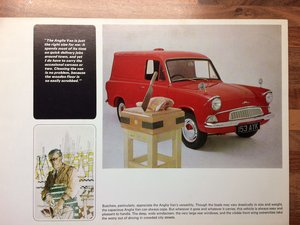 Ford Anglia Van sales brochure.