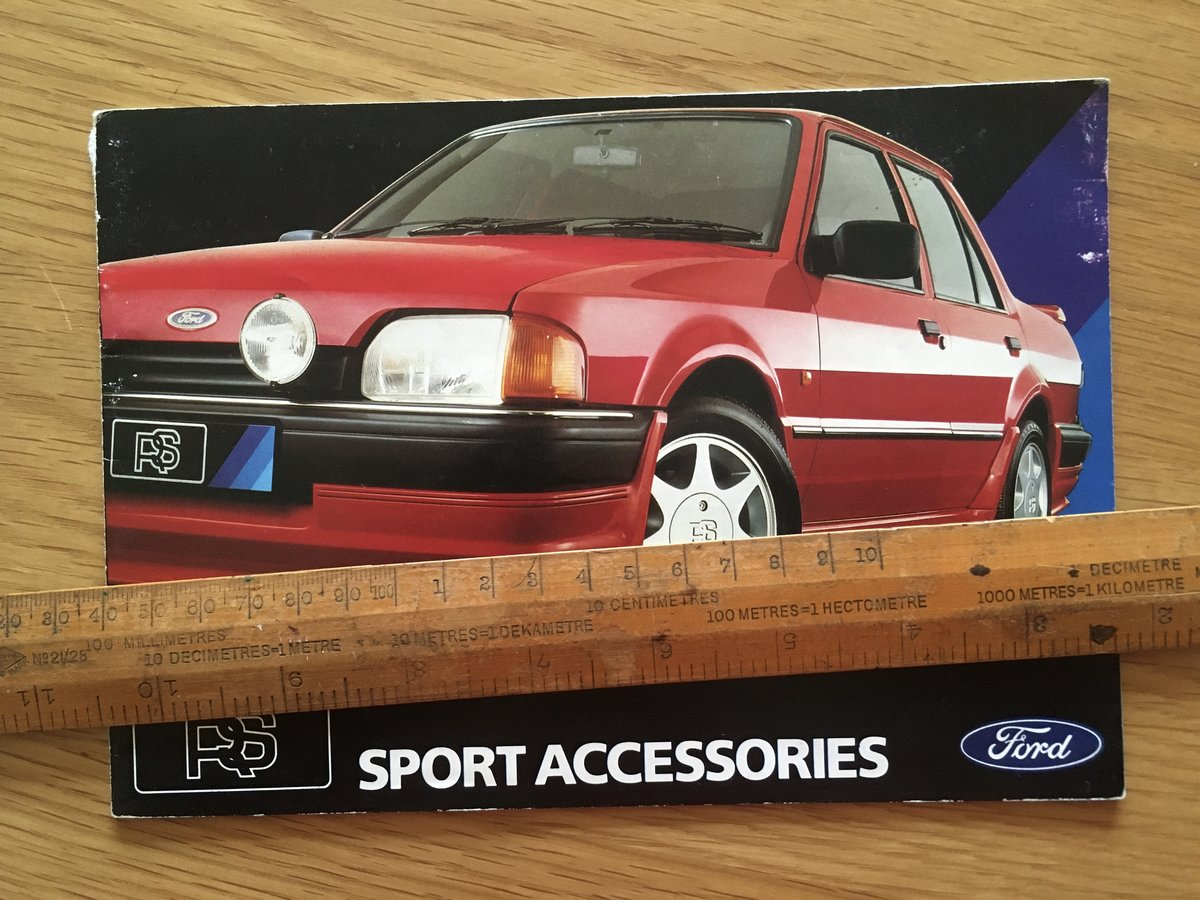 1986 Ford RS sport accessories brochure For Sale (picture 1 of 1)