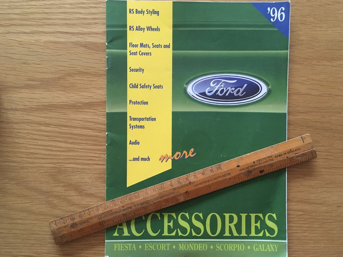 1096 Ford RS accessories brochure SOLD (picture 1 of 1)