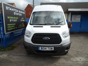TRANSIT LWB HI-TOP JUMBO  WITH A SIDE DOOR 117K SMART VAN