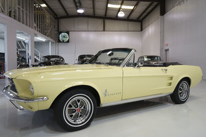 Springtime Yellow 1967 Ford Mustang Convertible