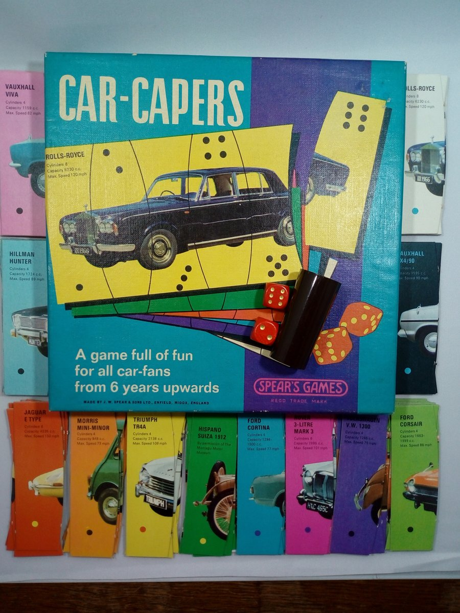 Early 1970's Car Capers game by Spears For Sale (picture 1 of 3)