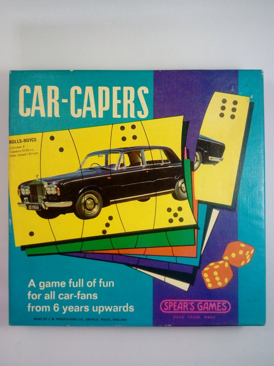 Early 1970's Car Capers game by Spears For Sale (picture 2 of 3)