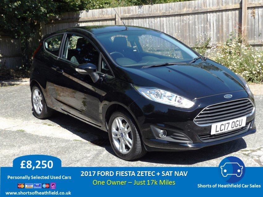 2017 Ford Fiesta Zetec + Sat Nav -17k miles For Sale (picture 1 of 1)