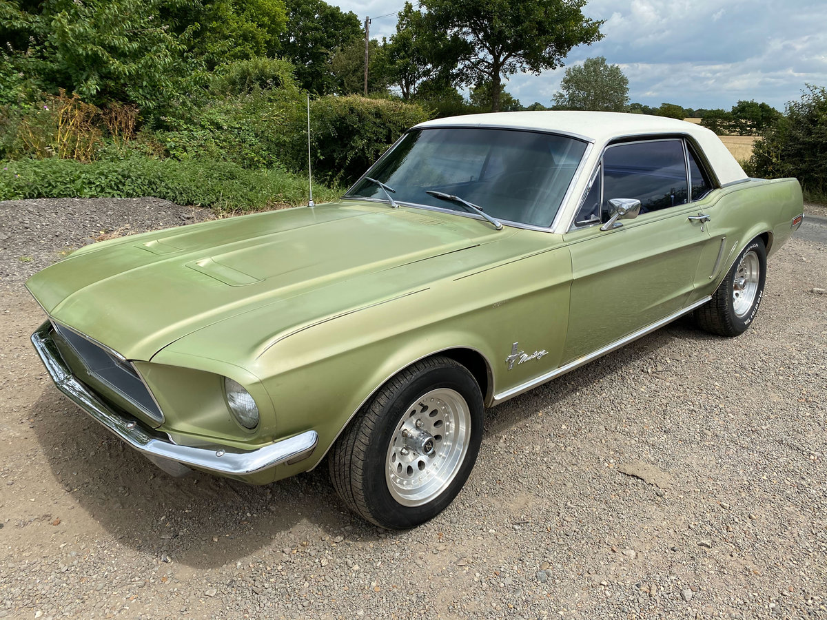 1968 Ford Mustang V8 Auto Lime Green Vinyl Roof SOLD (picture 1 of 6)