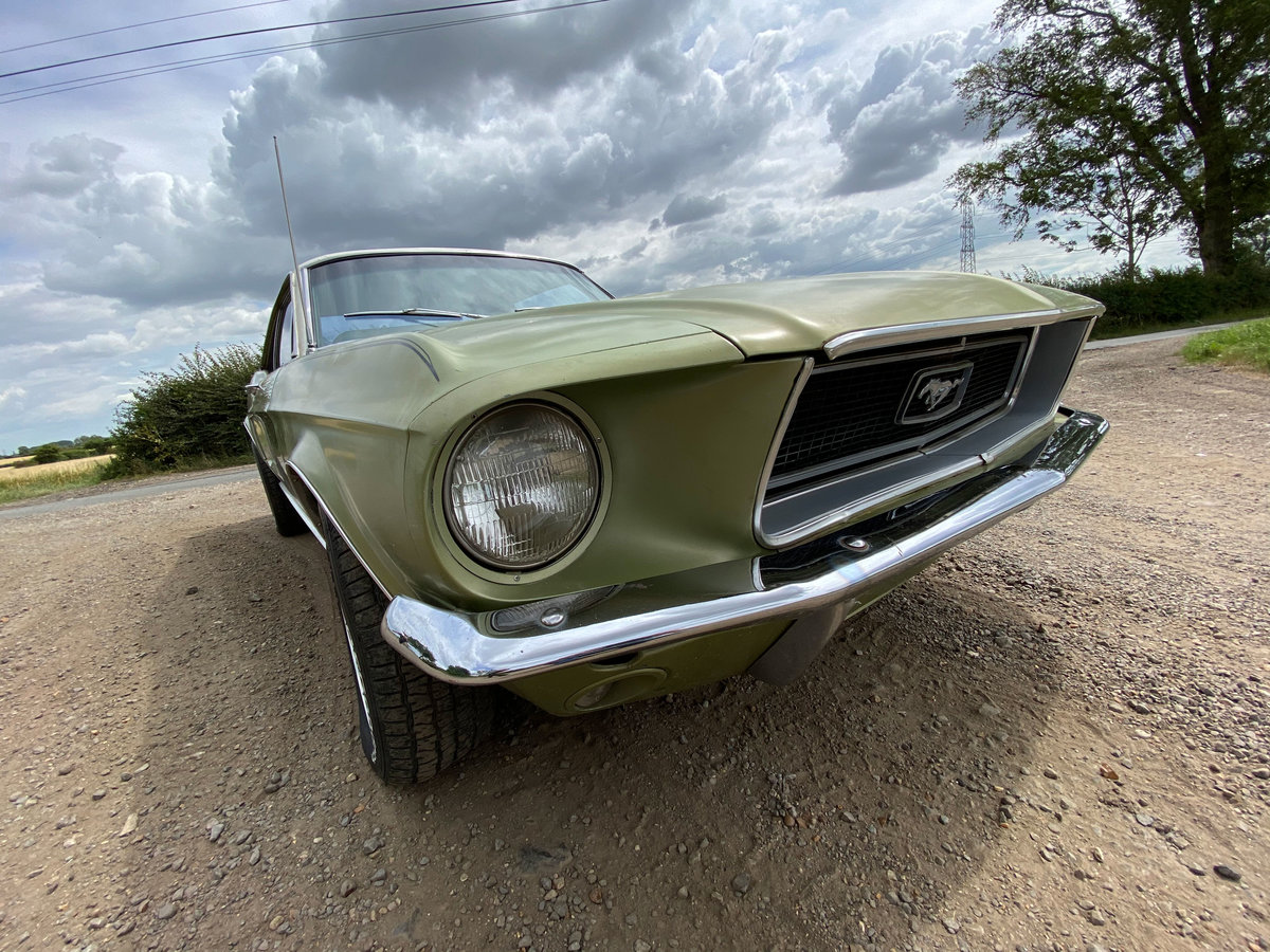 1968 Ford Mustang V8 Auto Lime Green Vinyl Roof SOLD (picture 2 of 6)