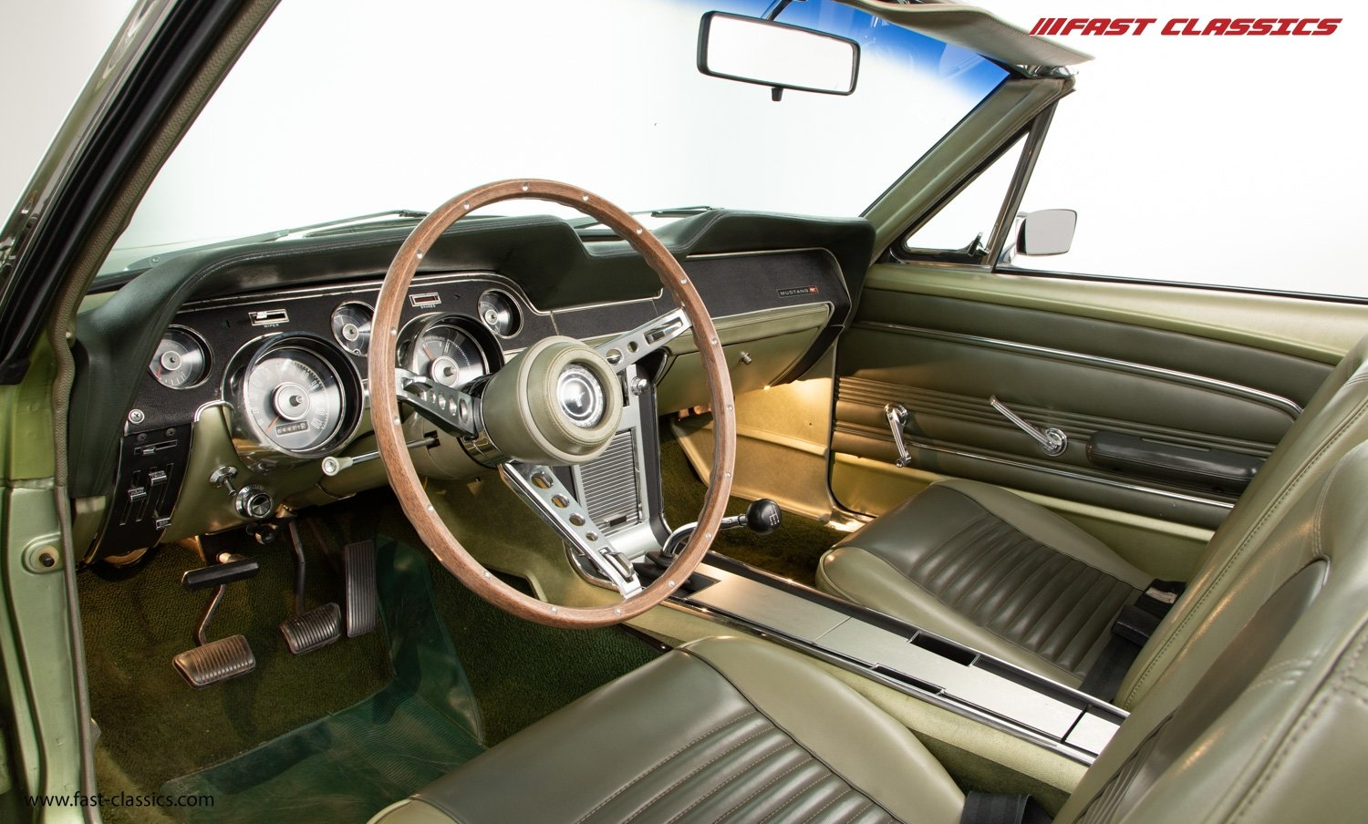 FORD MUSTANG CONVERTIBLE // 1967 FACTORY 4-SPEED MANUAL For Sale (picture 13 of 23)