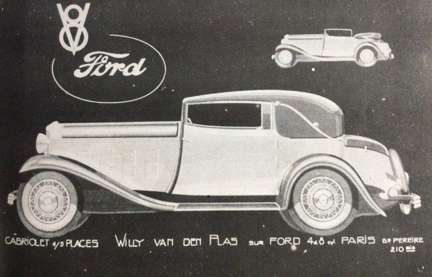 Ford V8 1932 Cabriolet Vandenplas , Mille Miglia For Sale (picture 4 of 6)
