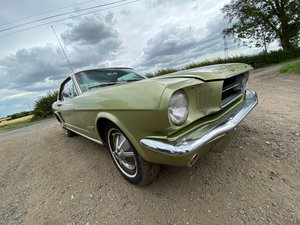 1966 Lime Gold Ford Mustang Coupe 3.3 Straight-six Auto