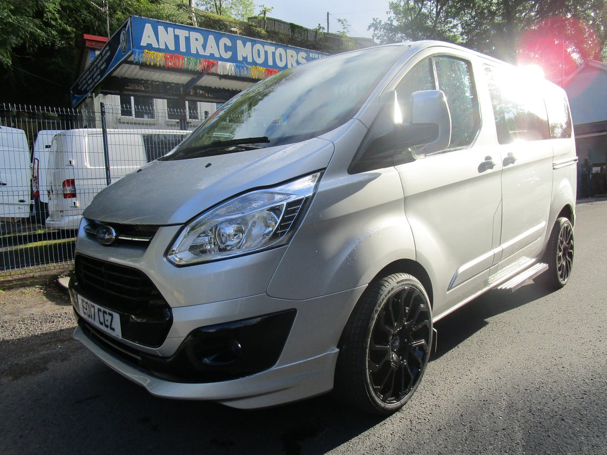 2017 FORD TRANSIT CUSTOM TOURNEO 2.0 TDI 9 SEATER SILVER For Sale (picture 1 of 6)